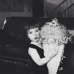 Four! All she kept asking for was a piñata. #vscocam